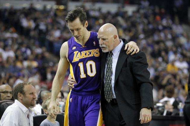 Lakers News: Steve Nash's Hamstring Injury Puts LA's Playoff Hopes in Jeopardy