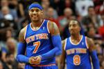 Melo Drops 50 as Knicks Beat Shorthanded Heat