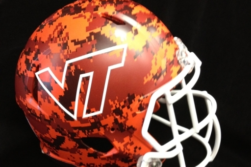 Hokies Unveil Military Appreciation Day Camo Helmets