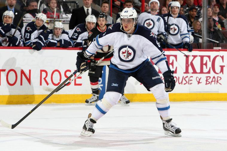 Jets' Antropov to Miss Two Weeks with Lower-Body Injury