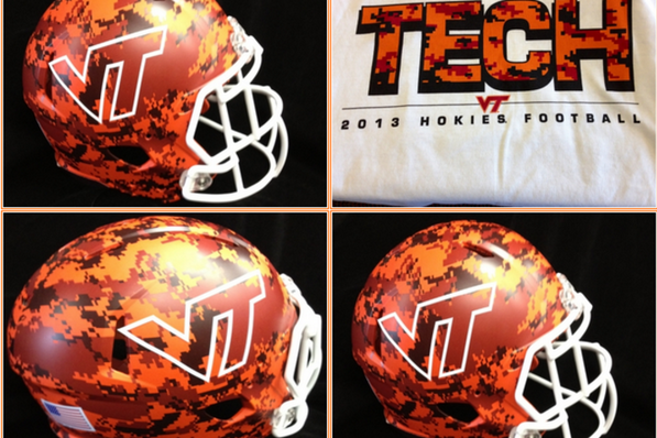Virginia Tech Unveils Camo Helmets for Military Appreciation Game vs. Marshall
