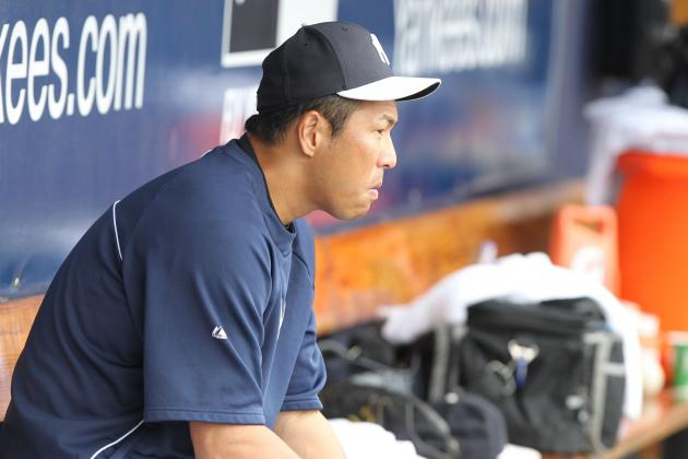 Kuroda Pulled from Game After Getting Hit in Hand by Line Drive