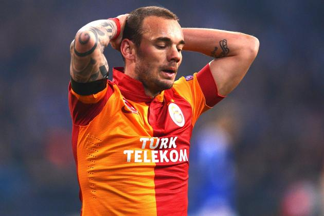 Wesley Sneijder Fizzles for Galatasaray Against Real Madrid in Champions League