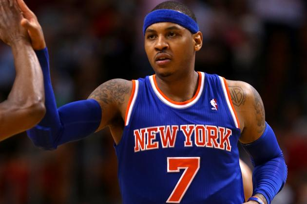 Red-Hot Melo Goes for 40 in Knicks Win over Hawks