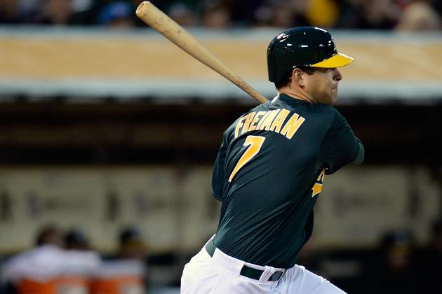 Nate Freiman Looks MLB-Ready in Debut with Oakland Athletics