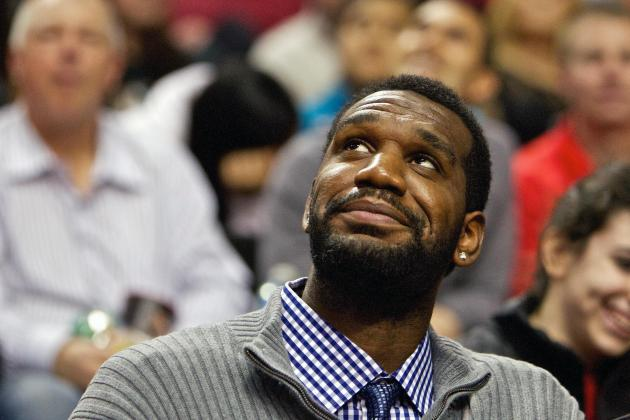 Former Blazers C Oden Returns to Watch Grizzlies