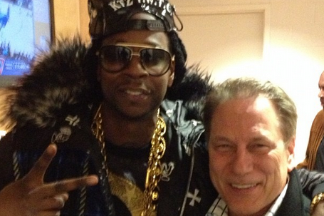 Final Four: Michigan State's Tom Izzo and 2 Chainz (PHOTO)