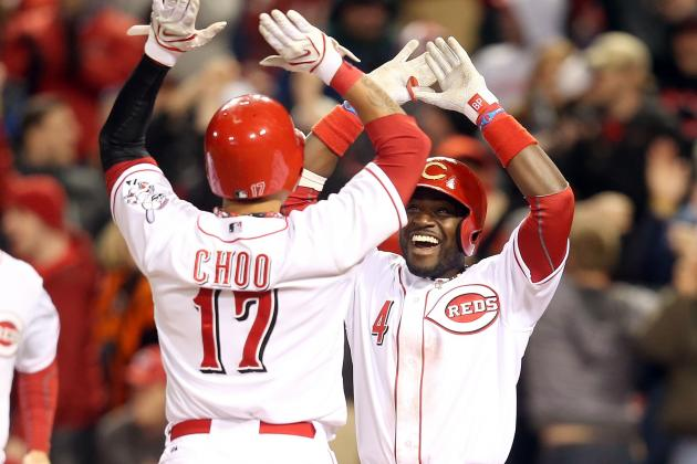 Reds Hold off Angels in Series Rubber Game