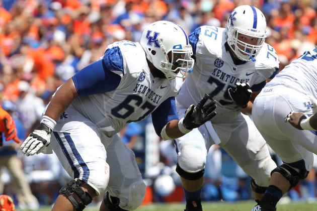 Kentucky Guard Larry Warford Works Out for Browns