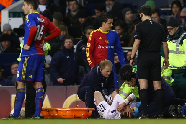 Gareth Bale Hurt as Tottenham Fight Back Against Basel in Europa League