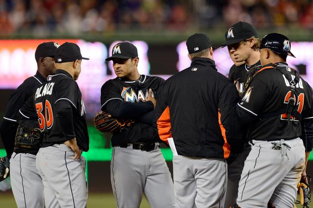 Marlins finally score but lose third in row, falling 6-1 to...