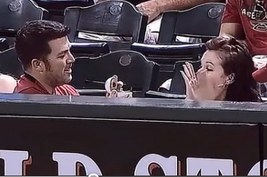 "Diamondbacks Fan Uses the Old ""Engagement Ring Hidden in a Baseball"""