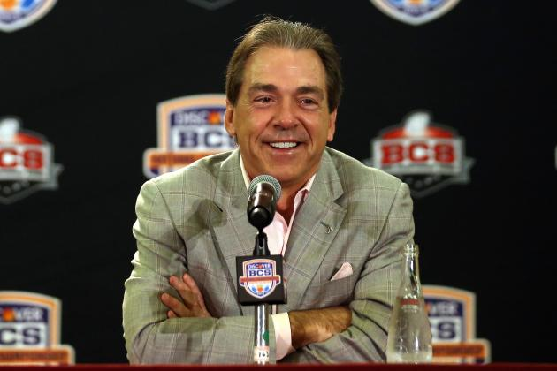 Watch Nick Saban Throw out the First Pitch Before