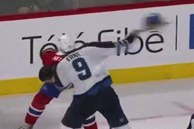 Watch: Kane Swings Alexei Emelin's Helmet in Fight