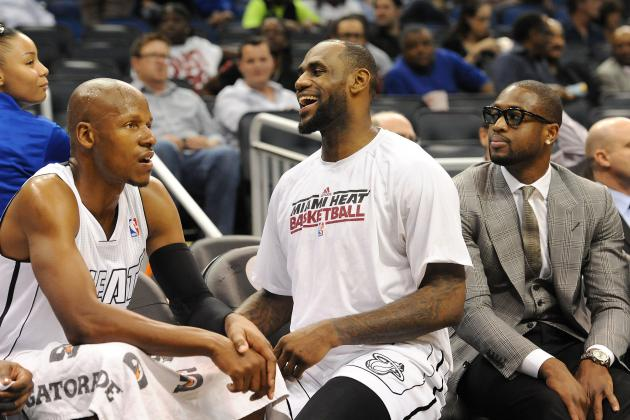 Heat's LeBron James, Dwyane Wade, Ray Allen Are out vs. Bobcats