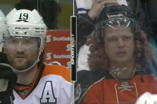Scott Hartnell Doppelganger Takes in the Leafs-Flyers Game in Toronto