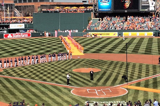 Orioles Roll out Orange Carpet for Home Opener