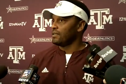 Video: Kevin Sumlin Leading to 'Friday Night Lights'