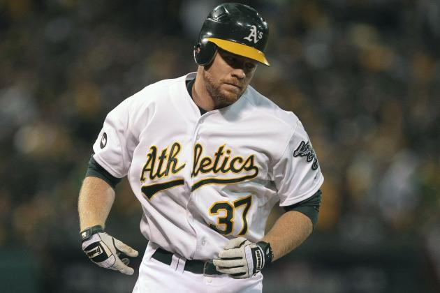 Brandon Moss Not with A's in Houston, Peterson in Reserve