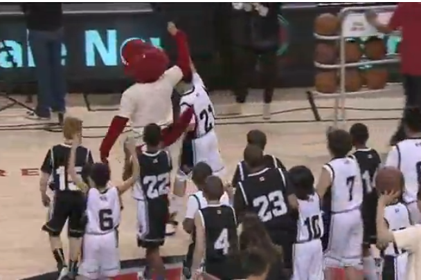 12-Year-Old Hits Half Court Shot at a Raptors Game