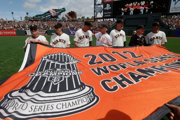 San Francisco Giants Raise Championship Banner