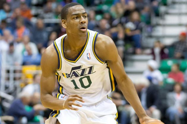 Alec Burks Suffers Ankle Injury vs. Hornets