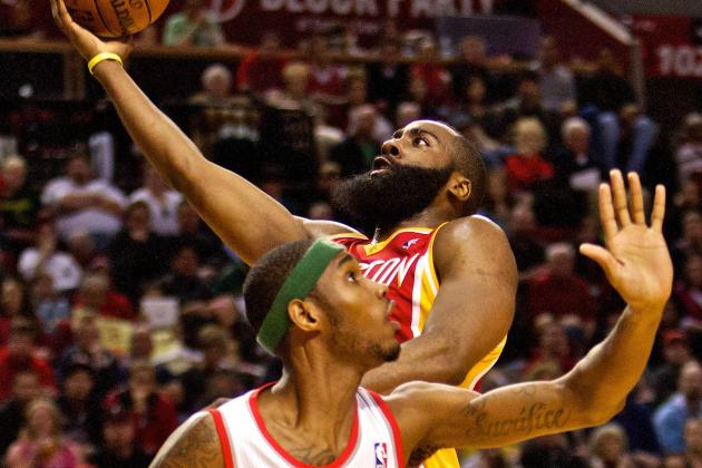 Harden, Short-Handed Rockets Top Blazers