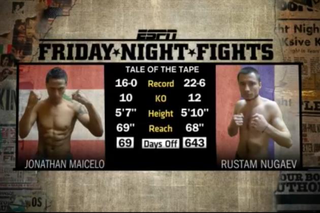 ESPN Friday Night Fights: Nugaev Upsets Maicelo with Big Knockout