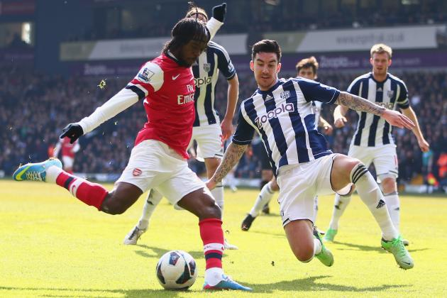 Rosicky Brace Sees off Baggies and Sends Gunners into Top Four