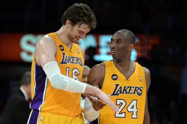 Kobe Bryant Says He and Pau Gasol Are Unstoppable Offensive Duo