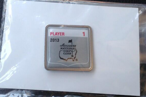 Bubba Watson Shows off 2013 Badge for Augusta