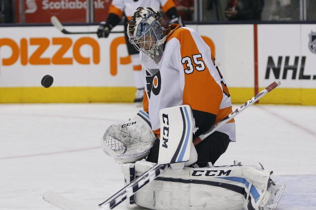 Steve Mason Starts 3rd Period for Flyers