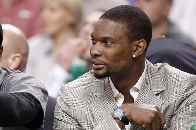Bosh Joins Wade on the Bench vs. 76ers