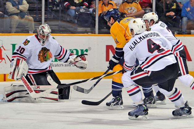 Hawks Stuff Frantic Preds as Emery Gets Shutout