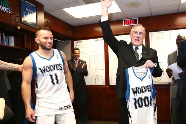 Minnesota Timberwolves Coach Rick Adelman Joins Elite 1,000-Win Club