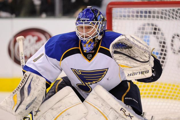 Blues, Brian Elliott Edge Red Wings, 1-0