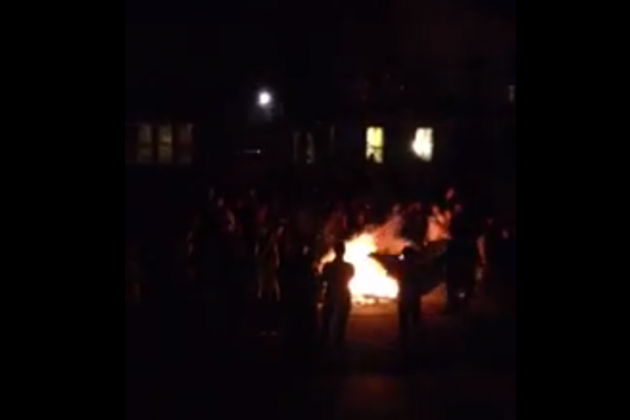 Ann Arbor: Michigan Fans Rioted (Sort Of) and Lit Couch on Fire [Video]
