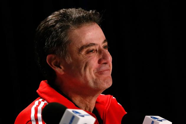 Back in Title Game, Louisville's Rick Pitino Sports New Role: Big Softy!