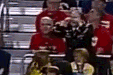 Exuberant Military Fan Was Highlight of Michigan vs. Syracuse [GIF]