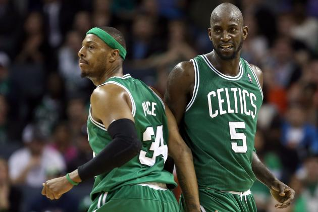 Kevin Garnett, Paul Pierce Active vs. Wizards