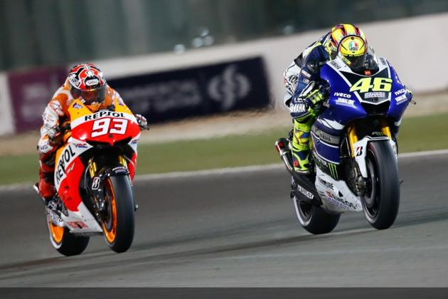 MotoGP 2013: Valentino Rossi and Marc Marquez Thrill Qatar with Classic Battle