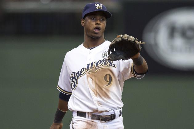 Brewers' Segura Leaves with Bruised Left Quad