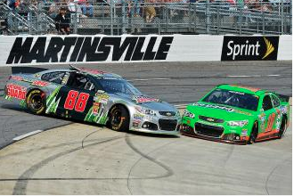 Dale Earnhardt Jr. Struggles at Martinsville, Loses Points Lead