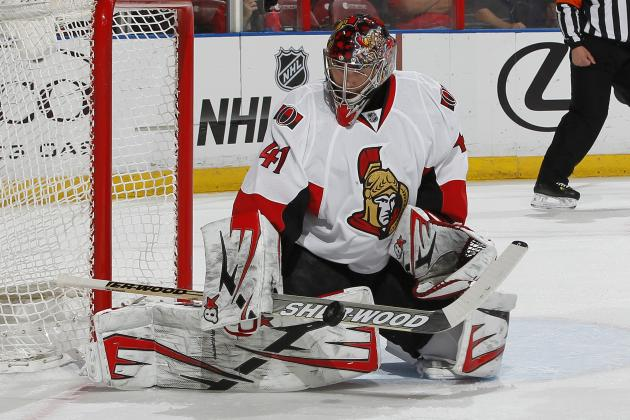 Anderson Makes 15 Saves in Return, Sens Lose 2-1
