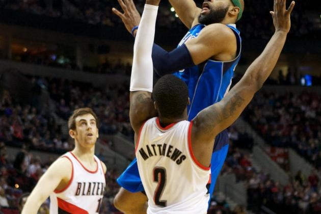 Blazers G Wesley Matthews Helped off Court with Right Ankle Injury
