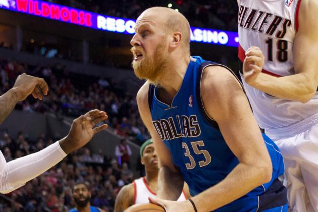 Kaman Lifts Mavs Past Blazers