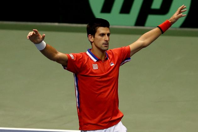 Novak Djokovic Cries After Serbia's Davis Cup Win over U.S.