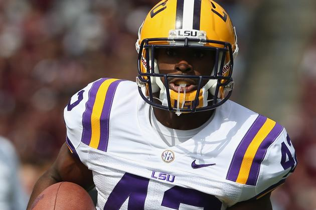 Report: Pats Send RBs Coach to Work out LSU Prospects
