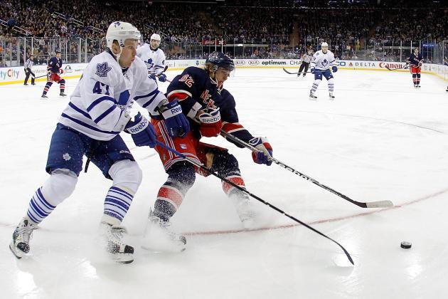 New York Rangers (19-15-4) at Toronto Maple Leafs (21-13-4), 7 p.m. (ET)