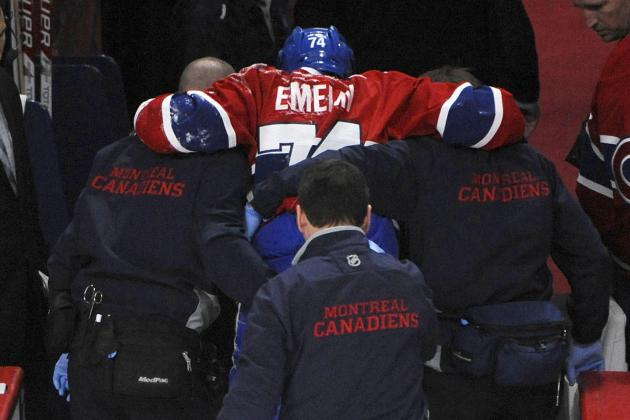 Canadiens Lose Emelin for Season to Knee Injury